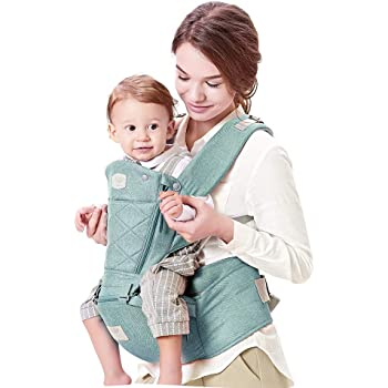 Maydolly Baby Carrier 360 All Carry Positions Baby Carrier with Hip Seat Wonderful Baby Shower Gift (Blue)