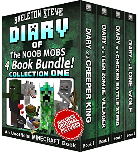 Diary Book Minecraft Series - Skeleton Steve & the Noob Mobs Collection 1: Unofficial Minecraft Books for Kids, Teens, & Nerds - Adventure Fan Fiction ... Diaries - Bundle Box Sets) (English Edition)
