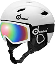 Odoland Snow Ski Helmet and Goggles Set, Sports Helmet and Protective Glasses - Shockproof/Windproof Protective Gear for S...