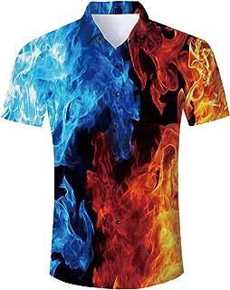 Goodstoworld 2019 Trend Men's Button Down Hawaiian Shirt Party Casual Short Sleeve Aloha Tee