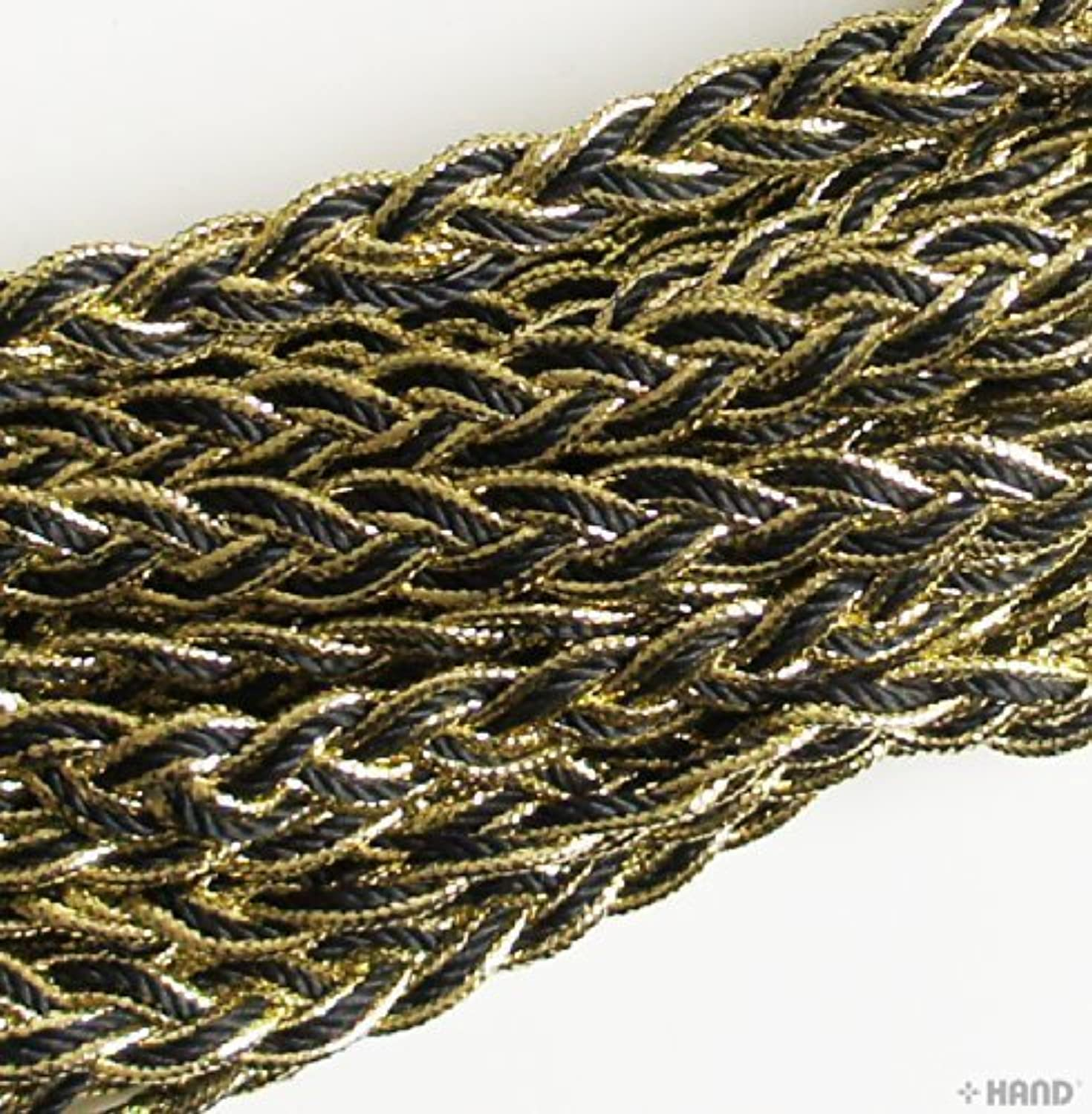 BRT03 Black and gold Twisted Plait Trim - 12mm wide x appx 10 meters