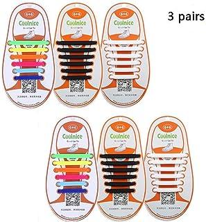 dodoshares no tie shoelaces子供大人theゴムシリコンno tie shoelaces防水Athletic Running Shoe Lacesマルチカラーのスニーカーブーツボード靴、カジュアルシューズ