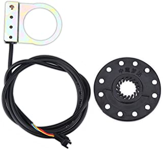 SolUptanisu Pedal Assist Sensor Kit 12 Magnets E-Bike PAS System Assistant Sensor Cycling Speed 1:1 Power Sensor Replacement for Electric Bicycle Scooter Mountain Bike