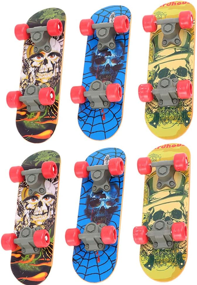 Toyvian 6pcs Bombing free shipping Mini Fingerboards Toys Skateboard Finger Challenge the lowest price of Japan ☆