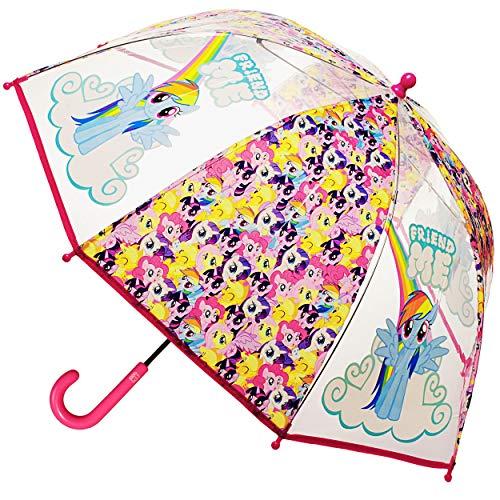 alles-meine.de GmbH Regenschirm / Kinderschirm -  My Little Pony - Pferde & Einhorn  - durchsichtig & transparent - Ø 72 cm - durchscheinend - klar - Kinder Stockschirm - für M..
