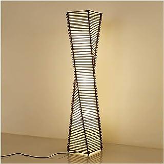 $lampe sur pied Lampadaire simple rotin moderne salon créatif étude chambre hôtel lampe de chevet verticale