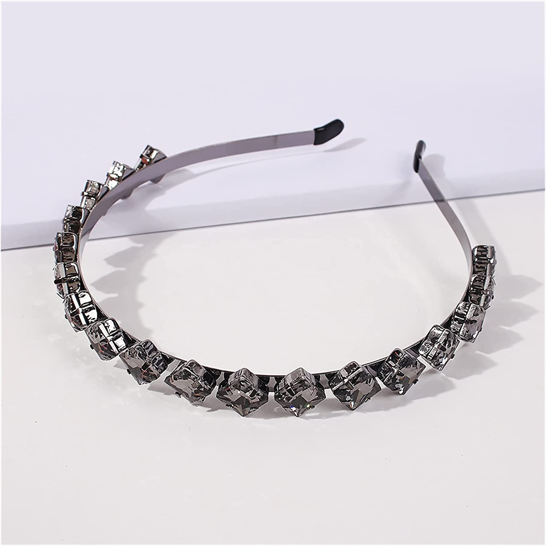 JIAQ Multi Crystal Gem Baroque Headbands for Women Diamond Hair Accessories Pearl Headband for Girls Crown Flower Hairbands Head Wrap (Color : White)