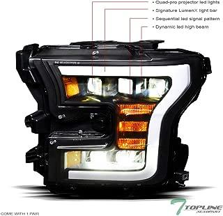 Topline Autopart Black Housing Full LED Sequential Tri...