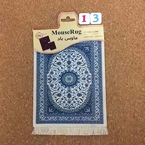1 stks perzische mini geweven tapijt mat mousepad tapijt patroon cup muismat met fring retro stijl thuiskantoor tafel decor craft, 13