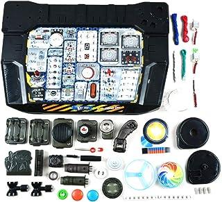 دوائر كبس للأطفال من سن 8 سنوات فما فوق، لعبة هندسة لوح الدوائر الإلكترونية، أكثر من 328 تجارب تعليمية لبناء الأسلاك الذكي...