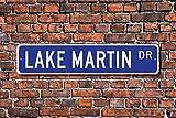GIGIGIEU Dekoschild See-Martin, Geschenk Alabama, See, Martin, Besucher, See-Liebhaber, Metallschild für den Außenbereich, 7,6 x 45,7 cm