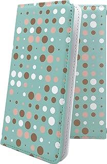 ケース isai V30+ LGV35 互換 手帳型 女の子 女子 女性 レディース ドット 水玉 イサイ プラス かわいい 可愛い kawaii lively isaiv30 plus おしゃれ