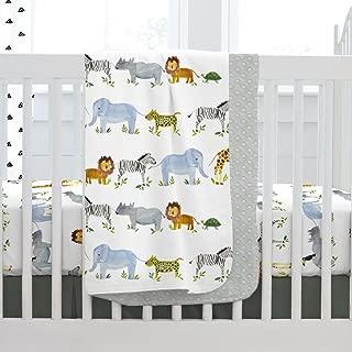 Carousel Designs Painted Zoo Crib Blanket