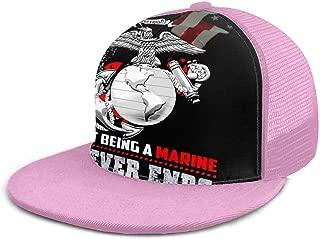 Eagle Globe Anchor USMC Marine Corps 3 Adjustable Dad Hats Adult Mesh Hat Baseball Cap