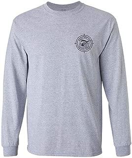 Koloa Surf Long Sleeve Black Marlin Cotton T-Shirts. Regular, Big & Tall