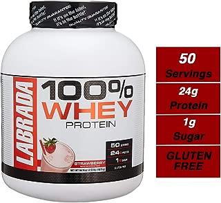 Labrada Nutrition Lean Pro 100% Whey Protein Powder, Strawberry, 4.13 lb