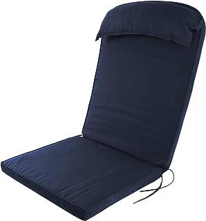 Plant Theatre Adirondack - Cojín de respaldo alto con almohada para la cabeza, color azul marino