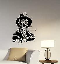 Freddy Krueger Wall Decal Removable Vinyl Sticker A Nightmare On Elm Street Art Decorations for Home Living Room Bedroom Office Horror Movie Decor krg1