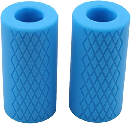 HENGSONG Thick Handle Silicone Fat Stick Holds Barbells and Dumbbells for More Muscle Growth in Hand Wrists-Set of 2