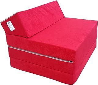 comprar comparacion Natalia Spzoo Colchón Plegable Cama de Invitados colchón de Espuma 200x70 cm FM (Rojo)