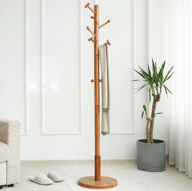DGF Large Hanger, Floor Solid Wood Hangers, Simple Bedroom Hangers , L45cm  H175cm- Primary colors