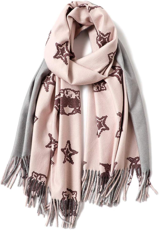 Liufeilong Wool Plaid Scarf Female European And American Style New Thick Warm Shawl Dualuse Printing Shawl