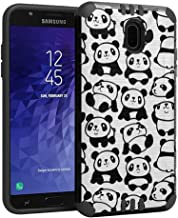 Capsule Case Compatible with Samsung Galaxy J7 2018 (J737), J7 Star, J7 Aero, J7 Refine, J7V 2nd Gen, J7 Crown, J7 Eon [Hybrid Dual Layer Silm Defender Case Black] - (White Panda)