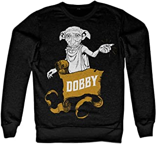 Harry Potter Officially Licensed Inked Dobby Sweatshirt (Black)