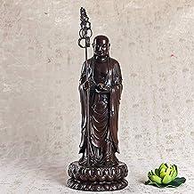 PPCP Dizang Bodhisattva Buddha Statue Decoration Meditation Sitting Posture Worship Charming and Serene Small Buddha Statu...