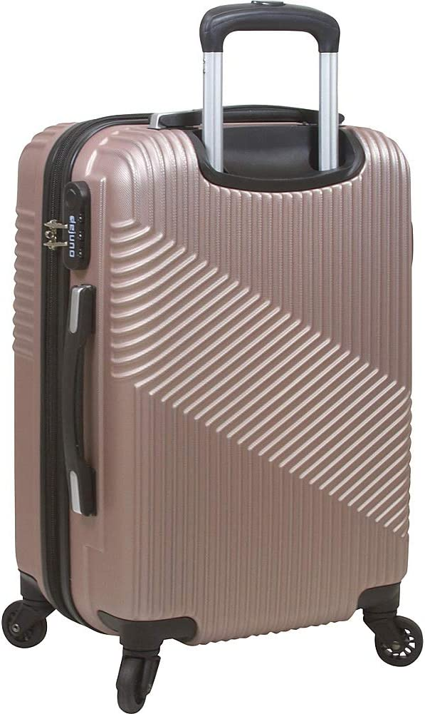 Dejuno Troy Abs 3-piece Hardside Spinner Luggage Set Silver