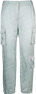 OFF-WHITE Luxury Fashion Womens OWCF004R19C860574100 Light Blue Pants   Season Outlet