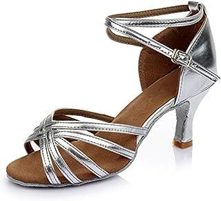 293e0959 YOGLY Zapatos de Baile Latino de Mujer Salsa Zapatos de Baile de Salón  Adulta Zapatos de
