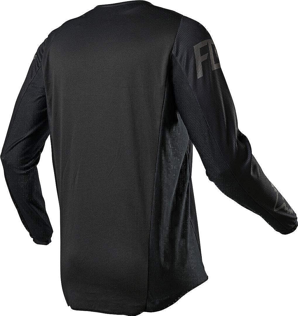 Fox 180 Revn Motocross Jersey Schwarz Schwarz Bekleidung