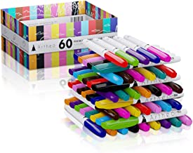 60x Dry Erase Premium Whiteboard Markers ARTHEO - 12 Colors With Bullet Tip For Max Visibility - Low-Odor & Non-Toxic, Smear-Free, Works On Most Non-Porous Surfaces - Dry Erase Markers - Bulk Pack