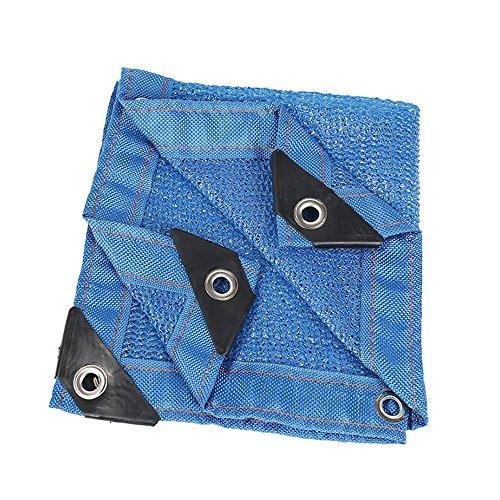 Voiles d'ombrage 85% tissu d'ombre de Sunblock avec des oeillets pour le patio de jardin Tailles personnalisées disponibles (Couleur : Blue, taille : 5x6m)