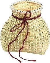 EXCEART Tkany koszyk do przechowywania bambusowy wisiorek DIY obraz kosz wędkarski dekoracja kosz owoce warzywa kosz do pr...