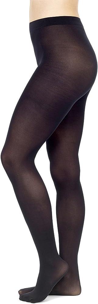 Pompea, 3 paia di collant in microfibra 50 den ,calze coprenti elasticizzate per donna,94% poliammide, 6% elas