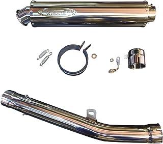 テックサーフ (techserfu) ジークス スリップオンマフラー One Tail (ワンティル) ポリッシュチタンサイレンサー KAWASAKI (カワサキ) -11ZZR1400 φ100×450LT23-K029-0417