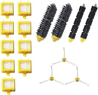 Replacement Parts Kit Bristle Brush Flexbile Beater Side Brush Hepa Filters for Irobot Roomba 700 Series Vacuum Accessories(yellow-black)