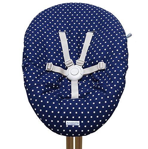 Blausberg Baby - Bezug für Babywippe Nomi Hochstuhl von Evomove - Blau Stern