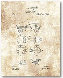 Parlor Roller Skates Drawing - 11 x 14 Unframed Patent Print - Great Gift for Skating and Roller Derby Fans