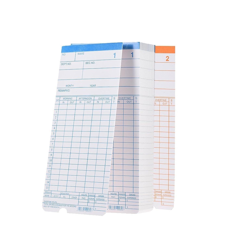 に頼るメダリスト最初はAibecy タイムカード 従業員出勤時間記録計 タイムカード 月額タイムクロックカード 両面デザイン 90枚入り