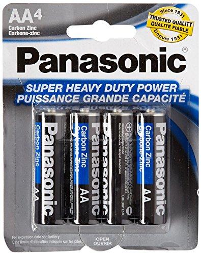 Panasonic 5734 16PC AA Batteries Super Heavy Duty Power Carbon Zinc Double A Battery 1.5V, Black (Pack of 16)
