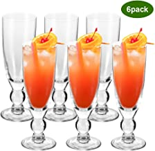 Glass Cups, YULEER 10.5-Ounces Highball Glasses Lead Free Crystal Clear Glass, Elegant Drinking Cups for Mixed Drinks, Water, Juice beer, Cocktail