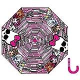 Monster High Paraguas estampado cremalleras niña rosa oscuro