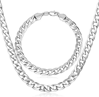 U7 Men Women Miami Cuban Chain with Customized Stamp Service 5/7/9/12/15mm Wide Stainless Steel 18K Gold Plated Curb Neckl...
