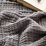 EMME Cotton Blanket Soft Muslin Throw Blanket for Couch Bed 4-Layer Breathable Gauze Blanket for All Season Soft and Lightweight Muslin Blankets for Adults Blanket (Grey, 55'x75')