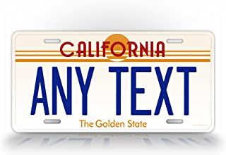 Custom Vintage California State Auto Tag Official Replica CA License Plate Any Text! Personalized Sign