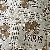 ONECHANCE Eiffelturm Muster Stoff Baumwollstoff Meterware