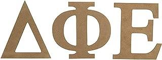 Delta Phi Epsilon Sorority 7.5 Inch Unfinished Wood Letter Set